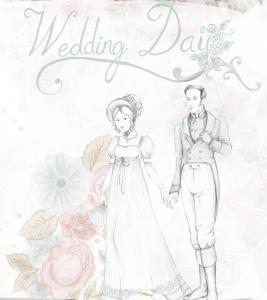 Zeichnung Wedding Day mit Brautpaar