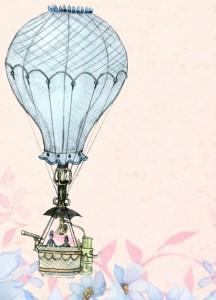 Zeichnung Heißluftballon